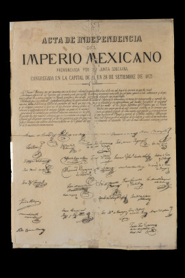 Acta de independencia del imperio mexicano